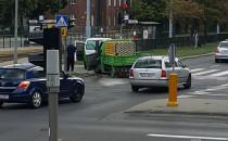 Stłuczka na skrzyżowaniu ulic Kościuszki i...