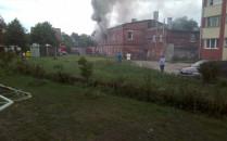 Pożar na oruni dolnej pali się mieszkanie...