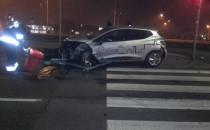 Wypadek auta na minuty