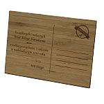 Kartka świąteczna drewniana, kartki świąteczne drewniane, kartki grawerowane z logo, kartki eco