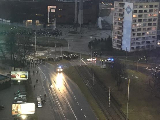 Dużo policji w centrum Gdańska