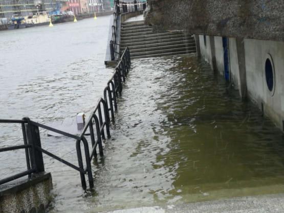 Woda w Motławie coraz wyższa