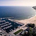 Spektakularny widok z apartamentu na Zatokę Gdańską