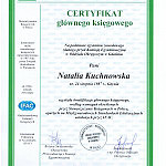 Certyfikat Głównego Księgowego Stowarzyszenia Księgowych w Polsce