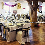 Dekoracja restauracji Spichrz Borcz w Borczu z okazji osiemnastki - osiemnastych urodzin. Balony.