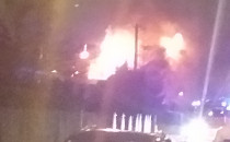 Pożar domu na Olszynce