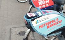 Rozładowane rowery Mevo w Oliwie
