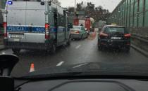 Skutki wypadku na Trasie Kwiatkowskiego w...