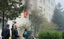 Pożar w Gdyni Karwinach