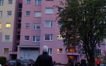 Pożar na Morenie. Burgaska 9, 4 piętro.
