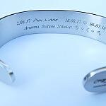 bransoletka z dedykacją ze stali nierdzewnej