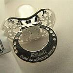 Smoczek - prezent na chrzest z grawerem - personalizowany