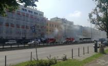 Pali się samochód na Grunwaldzkiej we...