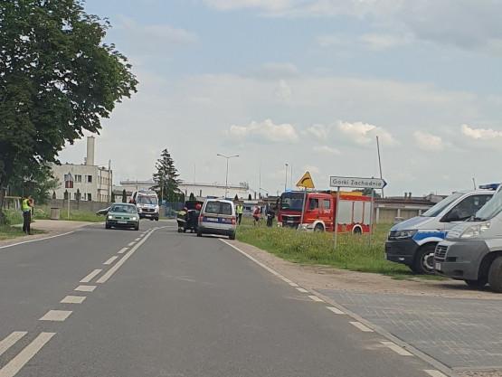 Wypadek przy ul. Kępnej w Gdańsku