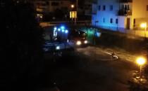 Nocny pożar śmietnika w Osowej