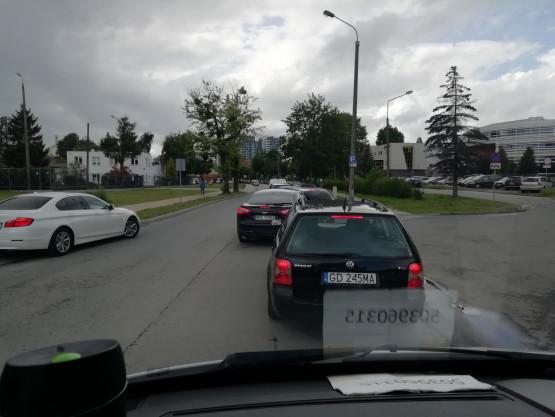Korek na Wałowej w stronę Wałów Piastowskich