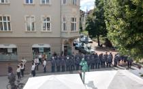 Parada policji na sopockim Monciaku
