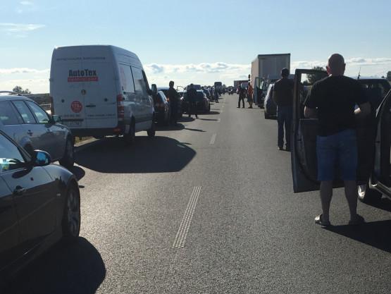 Wypadek na S7 w stronę Gdańska