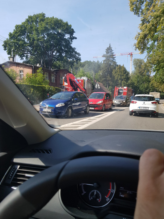 Pożar domu przy ul. Spacerowej w Gdańsku