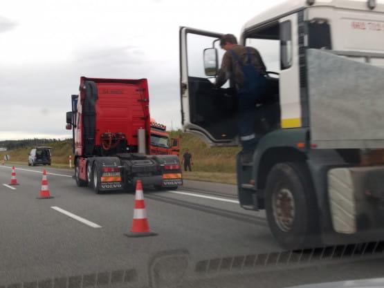 Wypadek na A1 przed Swarożynem
