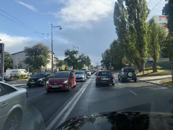 Kolizja w Sopocie i długi korek w kierunku Gdyni