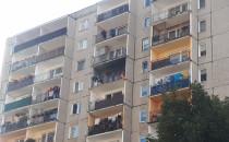 Pożar mebli na balkonie bloku przy...