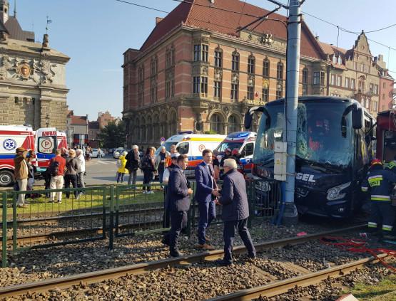 Wypadek przy Bramie Wyżynnej: 13 osób rannych