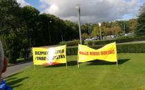 Protest pracowników grupy Lotos...