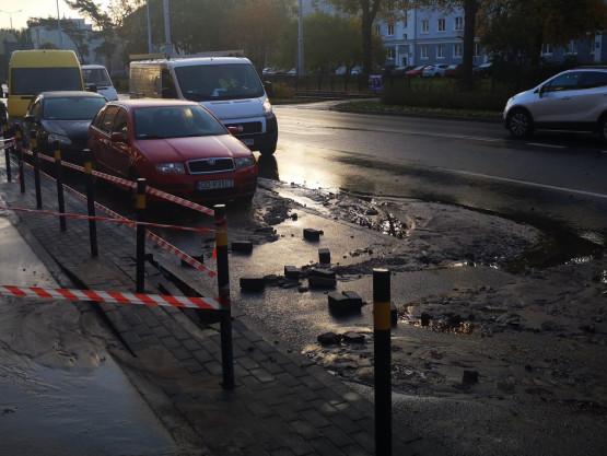 Awaria wodociągu na Kartuskiej