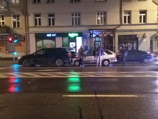 Kolizja  w Sopocie w stronę Gdyni