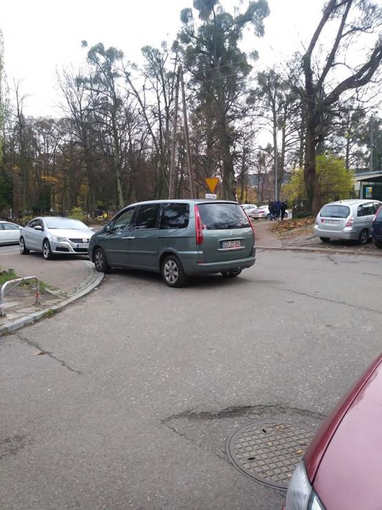 Mistrz parkowania na ul. Gdańca