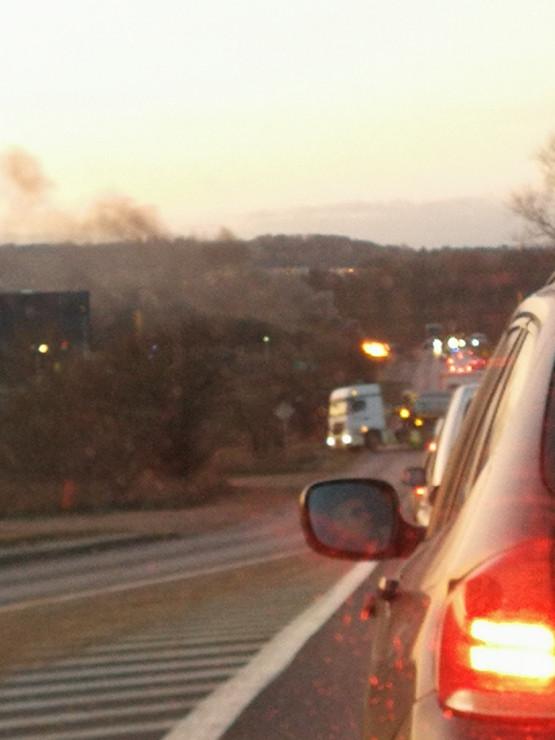 Pożar auta na ul. Budowlanych