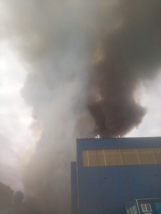 Pożar w porcie w Gdyni