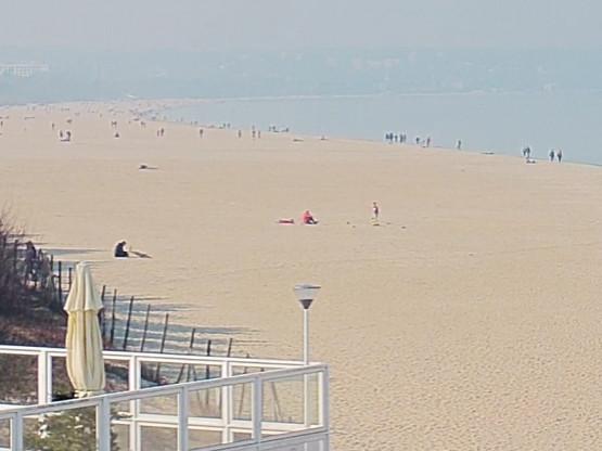 Plaża Brzeźno, sporo ludzi