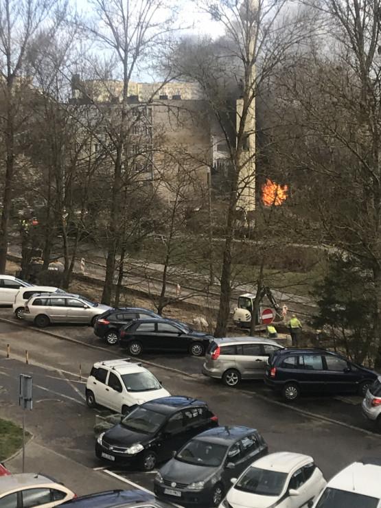 Pożar na ul. Stawnej na Witominie