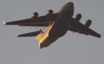 Boeing C-17 ląduje w Gdańsku