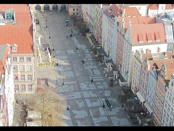 Starówka Pusto.Plaża Brzeźno pusto.Gdańsk zamarł.