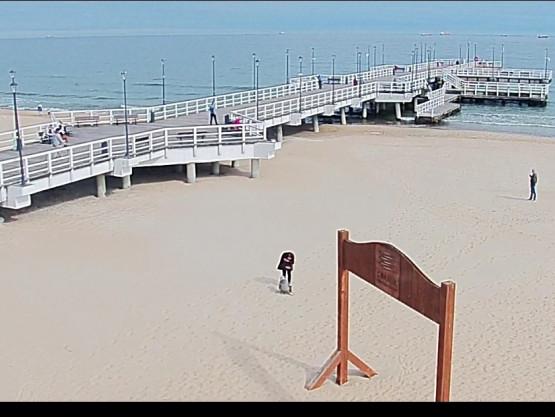 Otwarte Plaże, ludzie z Bąbelkami spacerują po plaży.Coś Pięknego.
