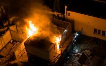 Nocny pożar przy ul. Słowackiego