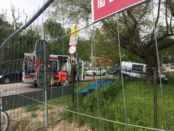 Wypadek rowerzystki i auta na ul. Potokowej