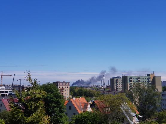 Słup dymu nad Gdańskiem