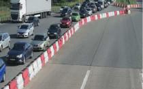 Korki na zjeździe z A1 w Nowej Wsi