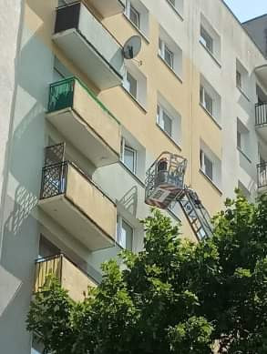 Dwa zastępy straży pożarnej na Srebrzysku