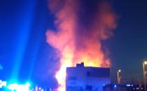 Pożar budynku przy stacji Gdańsk Wrzeszcz