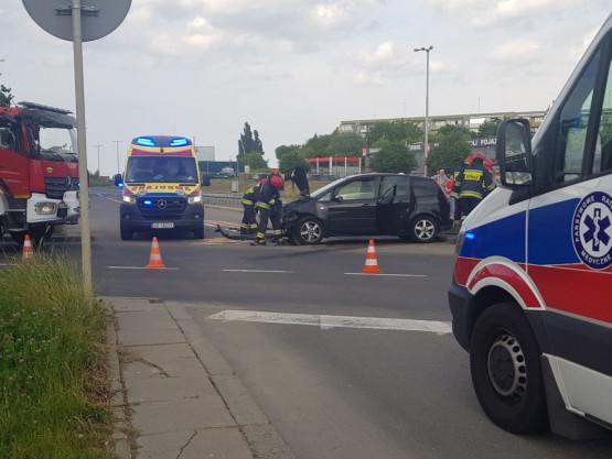 Zablokowane torowisko po wypadku na Chełmie