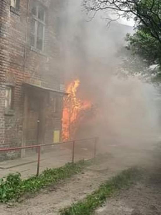 Pożar w kamienicy na Długich Ogrodach w Gdańsku