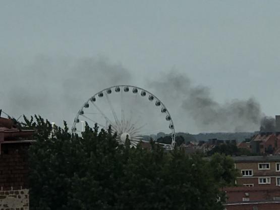 Pożar w centrum Gdańska