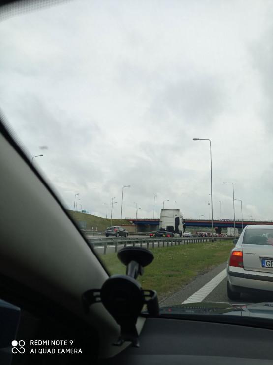 Korek na węźle Karczemki w kierunku A1