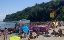 Zakaz kąpieli na plaży w Babich Dołach