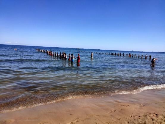 Akcja ratunkowa na plaży w Sopocie